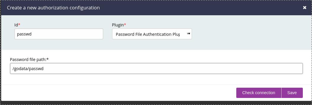 GoCD password file setup